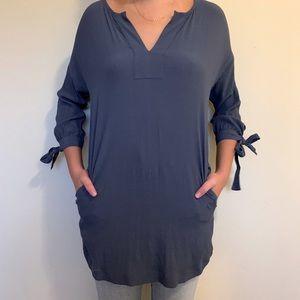 Madewell navy blouse